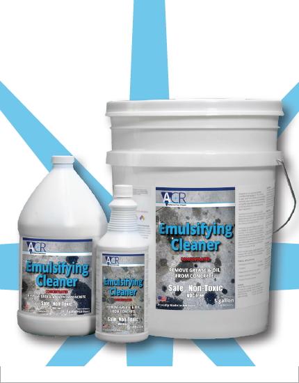 Очиститель масла, жиров с бетонной поверхности ACR Emulsifying Cleaner